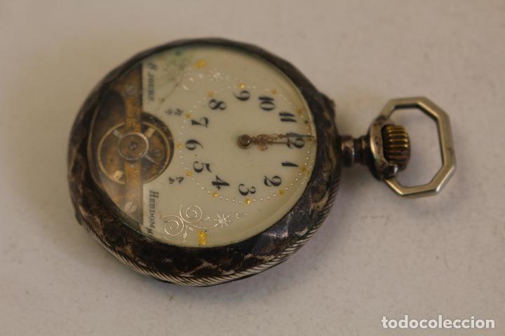 Relojes de bolsillo: reloj de bolsillo en plata de ley 8 jours espiral breguet - Foto 11 - 123534559