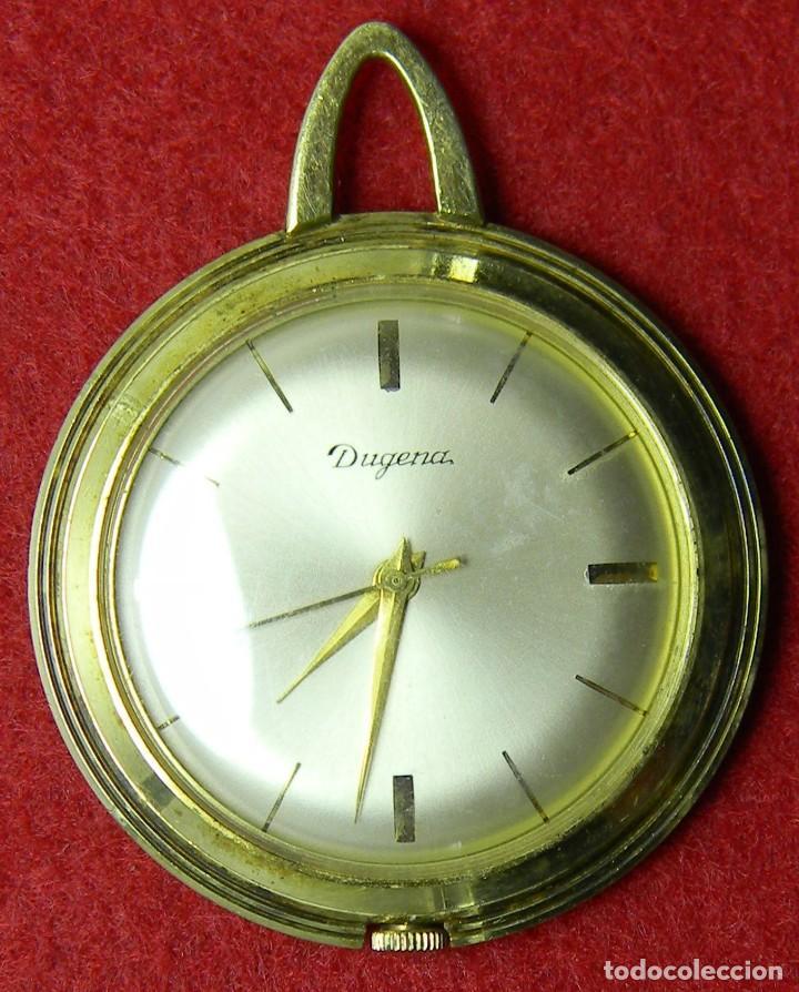 Relojes de bolsillo: Reloj Dugena de señora - Tipo enfermera - Funcionando -requiere ajustes - Años 70 - 26 gr. - 40 mm - Foto 2 - 124646267