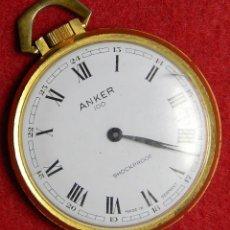 Relojes de bolsillo: RELOJ ANKER 100 SHOCKPROOF - FUNCIONANDO -REQUIERE AJUSTES - AÑOS 70 - 45 GR. - 43 MM. Lote 124647511