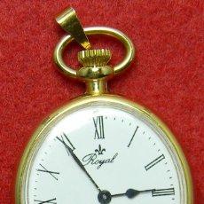 Relojes de bolsillo: RELOJ MANUAL TIPO ENFERMERA - MARCA ROYAL - AÑOS 70 - 22 GR. - 29 X 39 MM. Lote 124648919