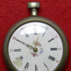 Relojes de bolsillo: PLATA 0.800 - RELOJ VICTORIA DE CABALLERO TIPO ROSTOCK DE LLAVE - NO FUNCIONA - 79 GRAMOS - 47 MM -. Lote 124658179
