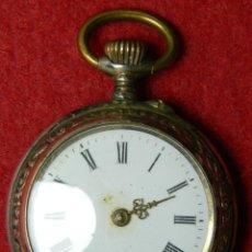 Relojes de bolsillo: PLATA 0.800 - RELOJ DE SEÑORA - NO FUNCIONA, PRECISA RESTAURACIÓN - 6 RUBIS - 26 GRAMOS - 32 MM. Lote 124659327