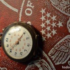Relojes de bolsillo: RELOJ DAMISELA - UÑERO - PLATA ESMALTADA CON ORO Y COBRE. Lote 124824711