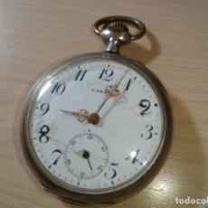 Relojes de bolsillo: BOLSILLO SUIZO PLATA LEY. Lote 124915647