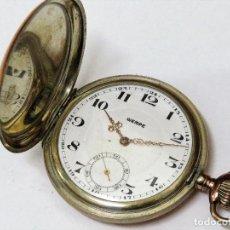 Relojes de bolsillo: WEMPE CALIBRE JUNGHANS CAJA DE PLATA AÑO 1.908. Lote 125103879