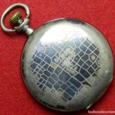 Relojes de bolsillo: CAJA DE PLATA 0.800 - PAVONADO - LEVEES VISIBLES QUALITY EXTRA - 15 RUBIS - 52 MM - 81 GRAMOS. Lote 125229235