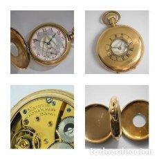 Relojes de bolsillo: WALTHAM USA-PRECIOSO RELOJ DE BOLSILLO CAZADOR-ESFERA MASONICA-15 JEWELS-FUNCIONANDO. Lote 125339403