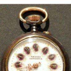 Relojes de bolsillo: PEQUEÑO RELOJ DE BOLSILLO CARGA MANUAL VALERO ZARAGOZA FUNCIONANDO. Lote 126065575