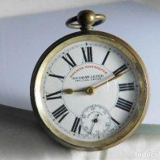 Relojes de bolsillo: MUY RARO-SEGUNDERO GIRA A IZQUIERDAS-RAILWAY TIMEKEEPER NICOBAR LEVER-CIRCA 1910-SUIZO-ROSKOPF. Lote 126131455