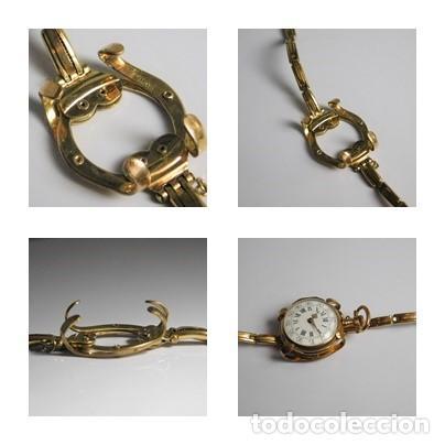 ANTIGUA Y MUY RARA PULSERA PARA CONVERTIR UN RELOJ DE BOLSILLO TIPO MONJA A RELOJ DE PULSERA (Relojes - Bolsillo Carga Manual)
