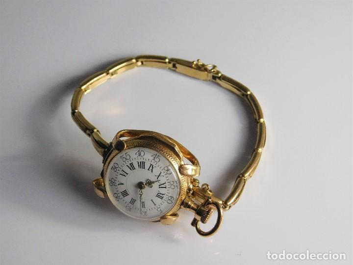 Relojes de bolsillo: ANTIGUA Y MUY RARA PULSERA PARA CONVERTIR UN RELOJ DE BOLSILLO TIPO MONJA A RELOJ DE PULSERA - Foto 4 - 126688199