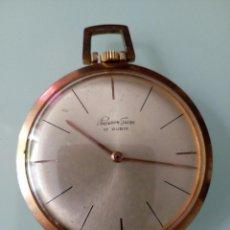 Relojes de bolsillo: RELOJ DE BOLSILLO PRECISIÓN SUIZA 17 RUBÍS, AÑOS 60, CHAPADO ORO. Lote 126888132