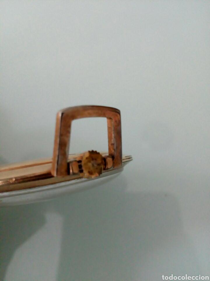 Relojes de bolsillo: RELOJ DE BOLSILLO PRECISIÓN SUIZA 17 RUBÍS, AÑOS 60, CHAPADO ORO - Foto 4 - 126888132