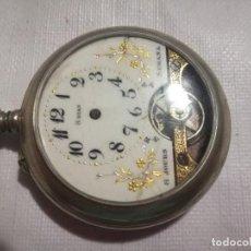 Relojes de bolsillo: RELOJ HEBDOMAS 8 DÍAS. METAL Y ESMALTE-SUIZA-FALTAS MANECILLAS Y PIEZAS. Lote 127528899