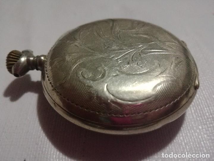 Relojes de bolsillo: RELOJ HEBDOMAS 8 DÍAS. METAL Y ESMALTE-SUIZA-FALTAS MANECILLAS Y PIEZAS - Foto 8 - 127528899