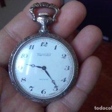 Relojes de bolsillo: RELOJ BOLSILLO THERMIDOR 47MM CALIBRE CUPILLARD FE 233 MANUAL FUNCIONANDO. Lote 127568811