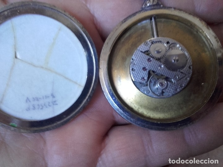 Relojes de bolsillo: reloj bolsillo THERMIDOR 47mm calibre Cupillard FE 233 manual funcionando - Foto 3 - 127568811