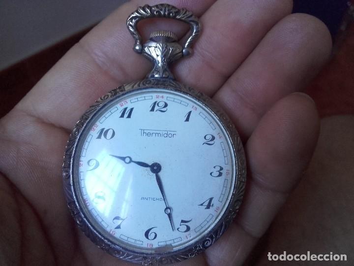 Relojes de bolsillo: reloj bolsillo THERMIDOR 47mm calibre Cupillard FE 233 manual funcionando - Foto 4 - 127568811