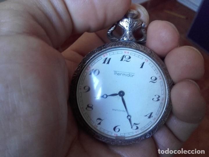 Relojes de bolsillo: reloj bolsillo THERMIDOR 47mm calibre Cupillard FE 233 manual funcionando - Foto 5 - 127568811