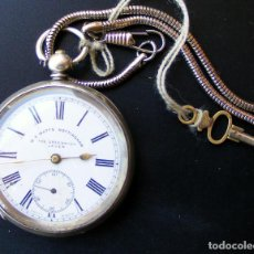 Relojes de bolsillo: ANTIGUO CATALINO, RELOJ ZUIZO - PLATA CUATO TAPAS. Lote 128326451