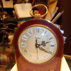 Relojes de bolsillo: RELOJ DE SOBREMESA MARCA DIEHL -FUNCIONA A PILA- MED.: 18X14X6 CMS. (SR). Lote 128373535