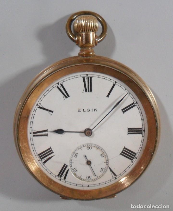 da7e589bd 11 fotos RELOJ DE BOLSILLO ELGIN CHAPADO EN ORO - FUNCIONA (Relojes -  Bolsillo Carga Manual) ...