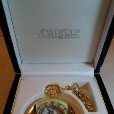 Relojes de bolsillo: RELOJ DE BOLSILLO CHAPADO EN ORO. JEAN PIERRE, SUIZA NUEVO. Lote 128755939