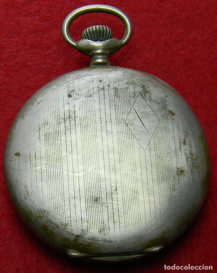 Relojes de bolsillo: Alpaca. Antiguo Reloj carga manual caballero. UTI 4 Grands Prix. Marcaje. 75 gm. Ø 49 mm - Foto 2 - 128770955