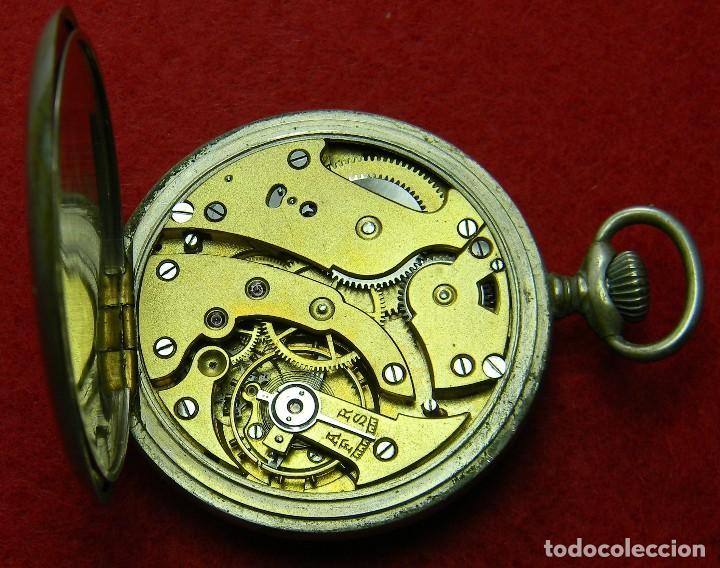 Relojes de bolsillo: Alpaca. Antiguo Reloj carga manual caballero. UTI 4 Grands Prix. Marcaje. 75 gm. Ø 49 mm - Foto 8 - 128770955