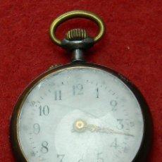 Relojes de bolsillo: RELOJ DE SEÑORA DE ACERO NIELADO. NUMERADO. CARGA MANUAL. 24 MM. Ø 31 MM. Lote 128771899