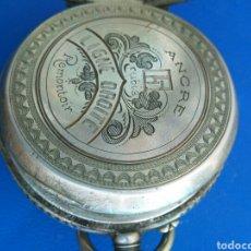 Relojes de bolsillo: ANTIGUO RELOJ DE PLATA ANCRE. Lote 129072127