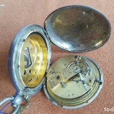 Relojes de bolsillo: RELOJ ANTIGUO EN PLATA. INGLATERRA SIGLO XIX. ESTADO DE MARCHA. SILVER POCKET WATCH.. Lote 129085867
