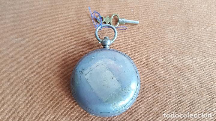 Relojes de bolsillo: Reloj antiguo en plata. Inglaterra siglo XIX. Estado de marcha. Silver pocket watch. - Foto 6 - 129085867