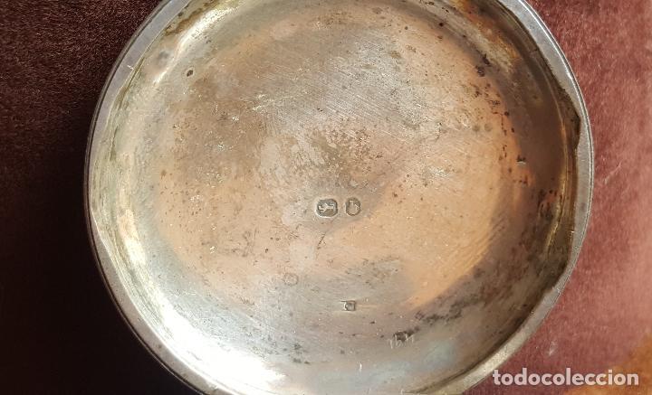Relojes de bolsillo: Reloj antiguo en plata. Inglaterra siglo XIX. Estado de marcha. Silver pocket watch. - Foto 13 - 129085867