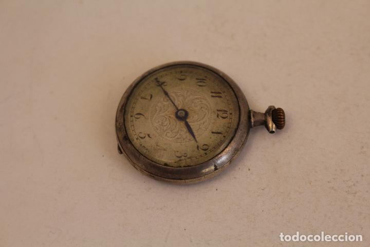 Relojes de bolsillo: reloj pequeño de bolsillo en plata de ley - Foto 3 - 129127271