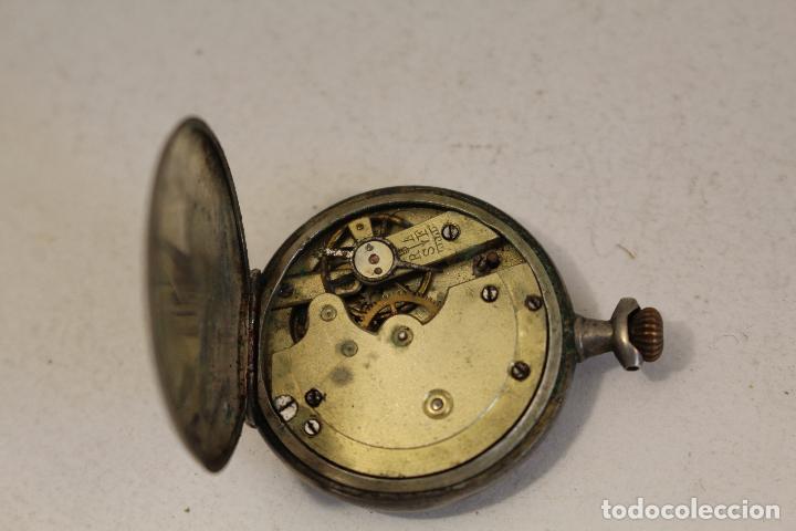 Relojes de bolsillo: reloj pequeño de bolsillo en plata de ley - Foto 6 - 129127271