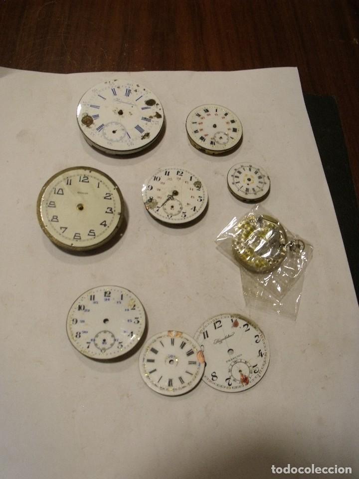 6 MAQUINARIAS RELOJ DE BOLSILLO Y 3 ESFERAS LOTE 91 (Relojes - Bolsillo Carga Manual)