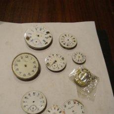 Relojes de bolsillo: 6 MAQUINARIAS RELOJ DE BOLSILLO Y 3 ESFERAS LOTE 91. Lote 129170587