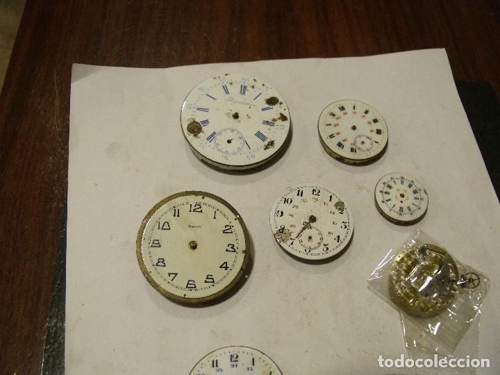 Relojes de bolsillo: 6 maquinarias reloj de bolsillo y 3 esferas lote 91 - Foto 2 - 129170587