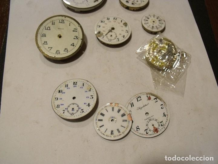 Relojes de bolsillo: 6 maquinarias reloj de bolsillo y 3 esferas lote 91 - Foto 3 - 129170587