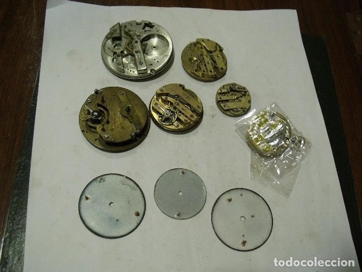 Relojes de bolsillo: 6 maquinarias reloj de bolsillo y 3 esferas lote 91 - Foto 4 - 129170587