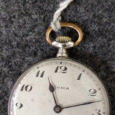 Relojes de bolsillo: RELOJ CYMA DE BOLSILLO, PLATEADO.FUNCIONANDO. Lote 129215239