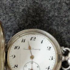 Relojes de bolsillo: RELOJ DE BOLSILLO CRONOMETRO ESCASANY DE PLATA, BUENOS AIRES.. Lote 129216731