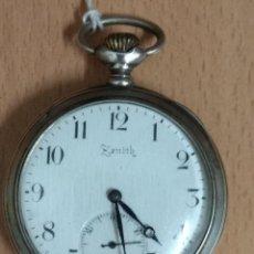 Relojes de bolsillo: RELOJ ZENITH BOLSILLO DE PLATA 0800 GRAND PRIX PARIS 1900 ANCRE 15 RUBIS.. Lote 130010879