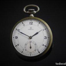Relojes de bolsillo: OMEGA-RELOJ DE BOLSILLO-2 TAPAS-CIRCA 1935-FUNCIONANDO-MOVIMIENTO 38.5L-15 JEWELS. Lote 130360454