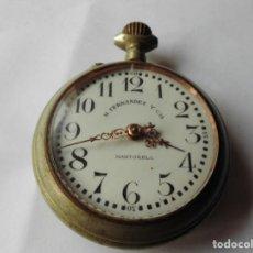 Relojes de bolsillo: MAGNIFICO RELOJ DE BOLSILLO M.FERNANDEZ Y CIA,MARTORELL,PRECIOSA MAQUINARIA LABRADA,SALIDA 1 EURO. Lote 130555186