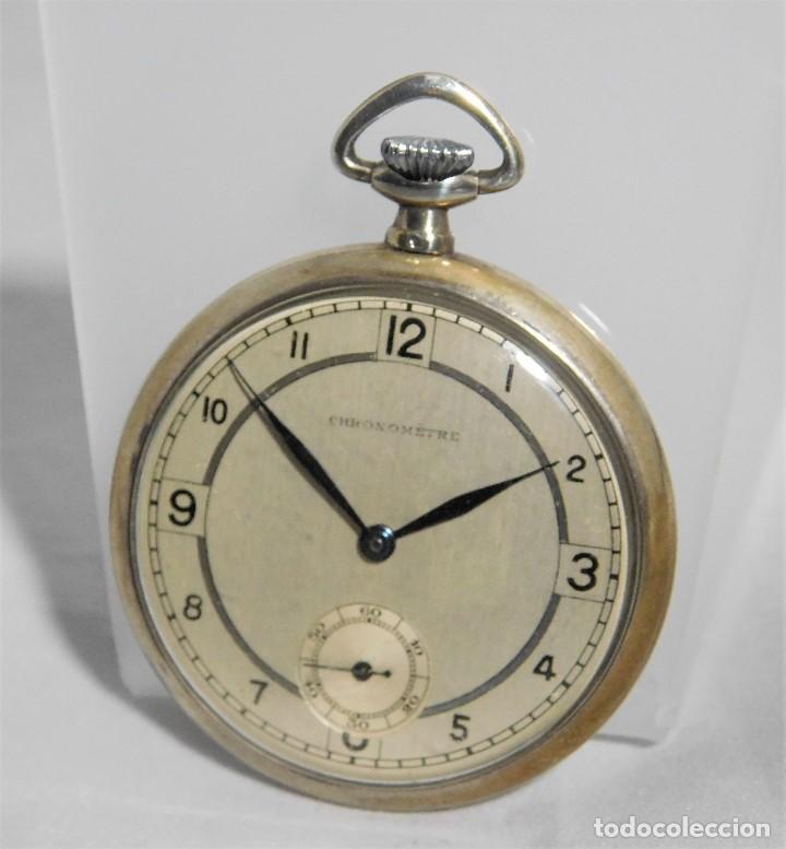 CHRONOMETRE-RELOJ DE BOLSILLO -FRANCIA-2 TAPAS-CIRCA 1930-FUNCIONANDO- (Relojes - Bolsillo Carga Manual)