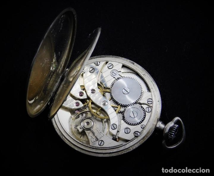 Relojes de bolsillo: CHRONOMETRE-RELOJ DE BOLSILLO -FRANCIA-2 TAPAS-CIRCA 1930-FUNCIONANDO- - Foto 8 - 130794936