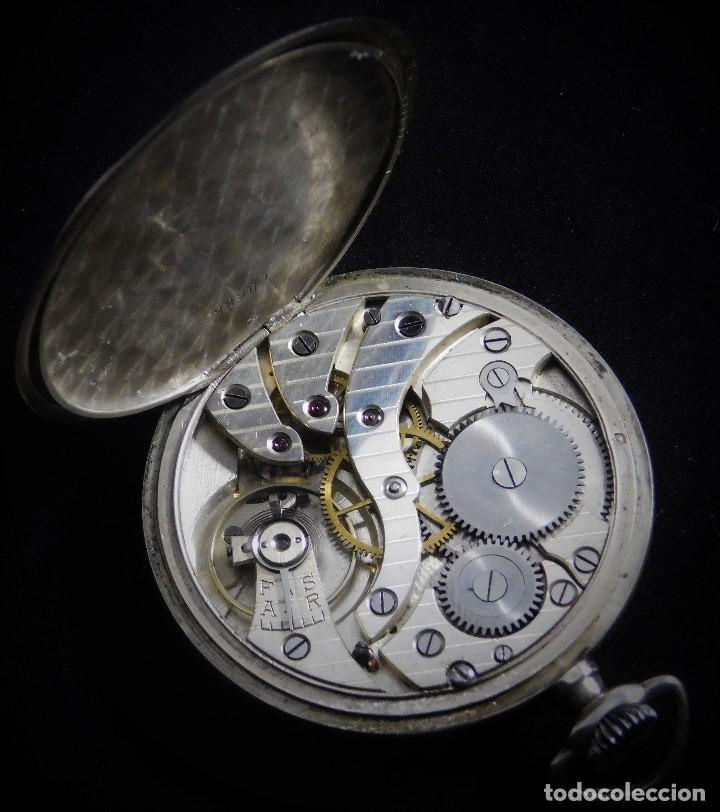 Relojes de bolsillo: CHRONOMETRE-RELOJ DE BOLSILLO -FRANCIA-2 TAPAS-CIRCA 1930-FUNCIONANDO- - Foto 9 - 130794936