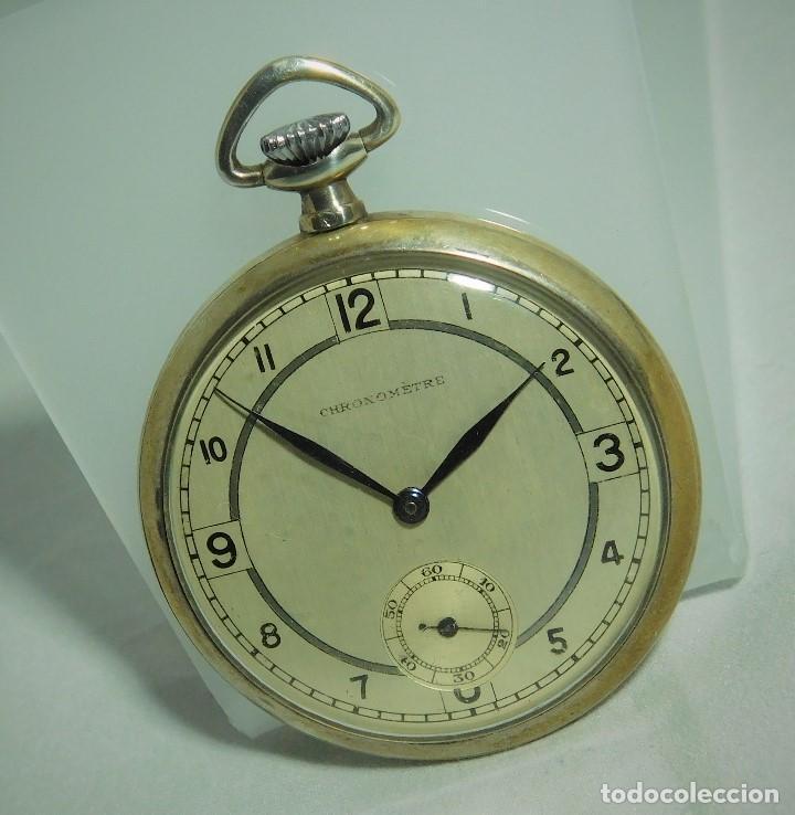 Relojes de bolsillo: CHRONOMETRE-RELOJ DE BOLSILLO -FRANCIA-2 TAPAS-CIRCA 1930-FUNCIONANDO- - Foto 10 - 130794936